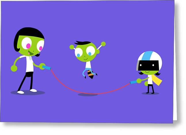 Jump Rope Greeting Card by Pbs Kids