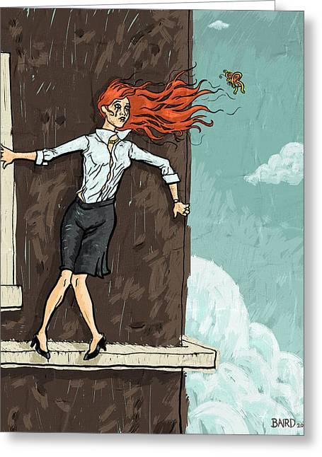 Jumper Greeting Card by Baird Hoffmire