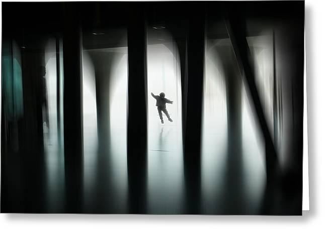 Jumping For Joy Greeting Card by Vito Guarino