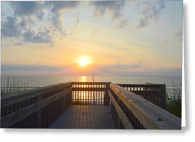 Greeting Card featuring the photograph June 17th Sunrise by Barbara Ann Bell