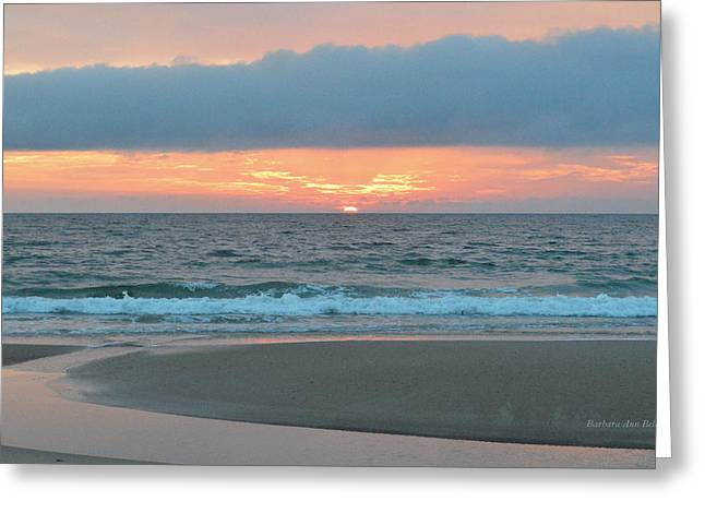 Greeting Card featuring the photograph June 20 Nags Head Sunrise by Barbara Ann Bell