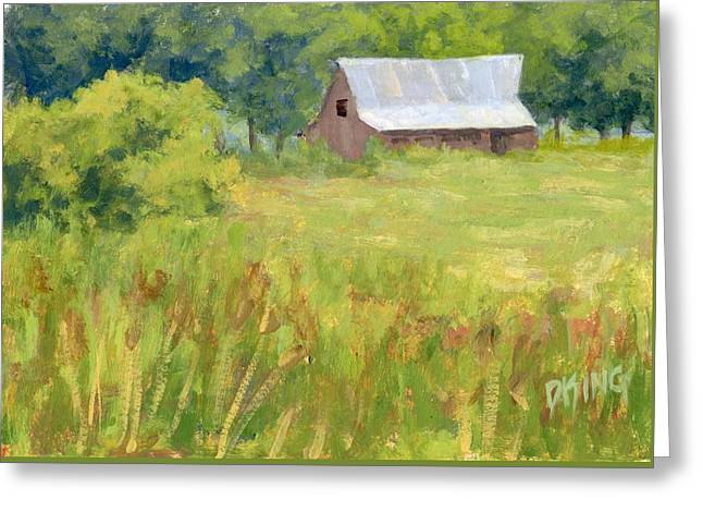 June Field Greeting Card by David King