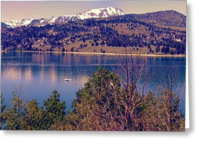 June Lake Panorama Greeting Card