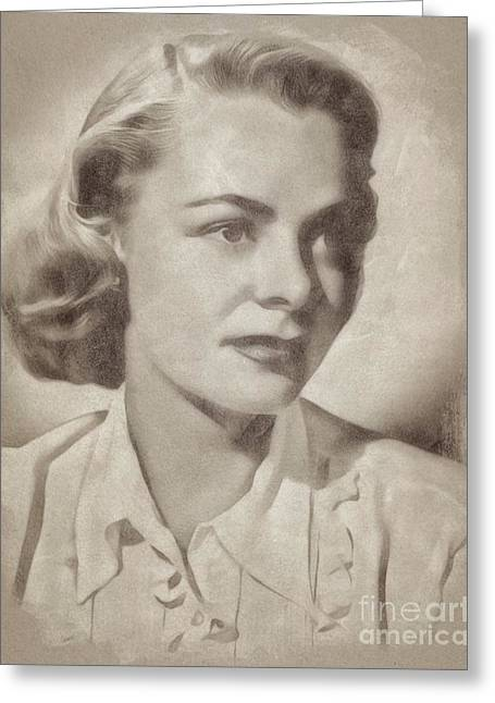 June Lockhart, Actress Greeting Card