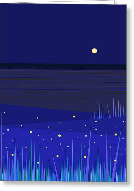 June Nights   Greeting Card