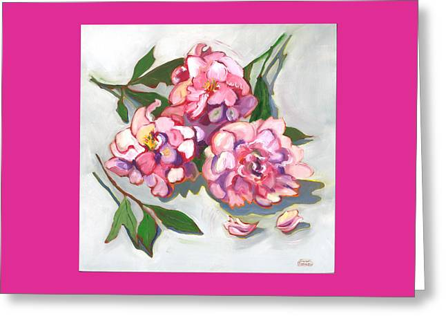 June Peonies Greeting Card