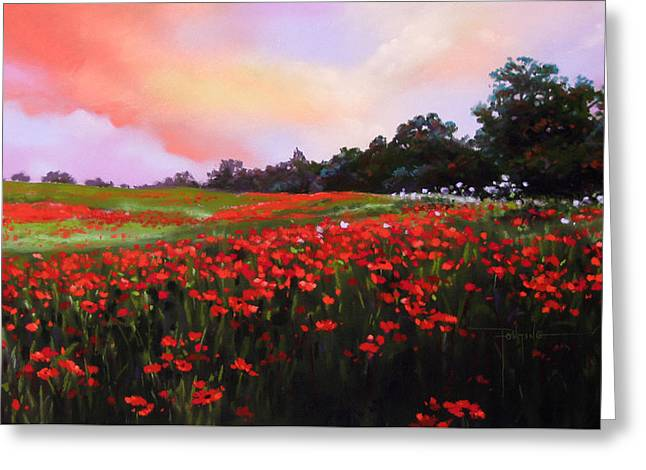 June Poppies Greeting Card