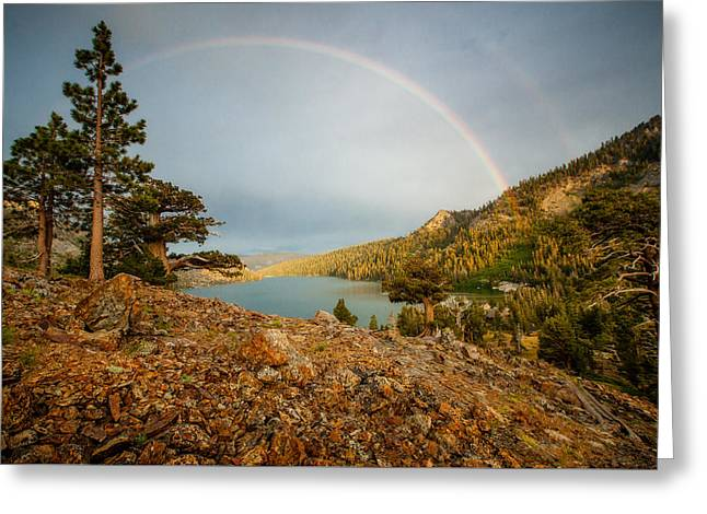 June Storm Over Echo Lake Greeting Card by Dan Holmes