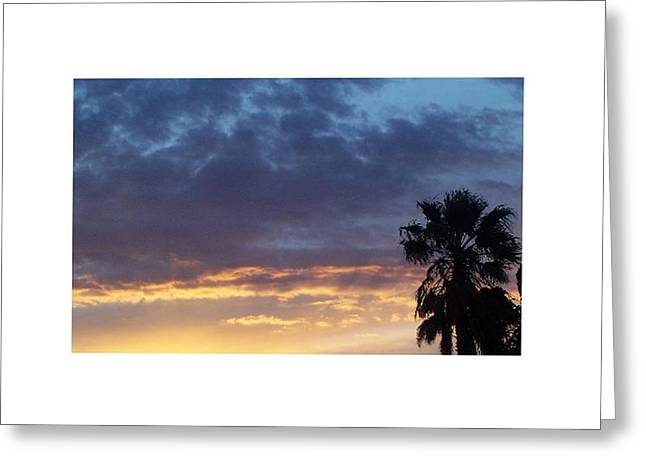 June Sunset  In Las Vegas Greeting Card by Patricia  Williams