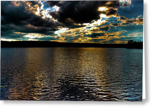 Greeting Card featuring the photograph June Sunset On Nicks Lake by David Patterson