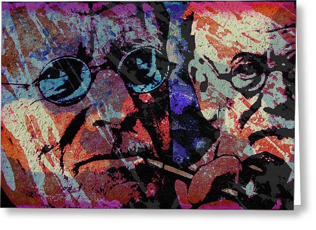 Jung And Freud Greeting Card