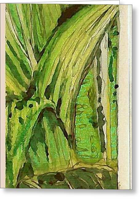 Jungle Angles Greeting Card by Mindy Newman