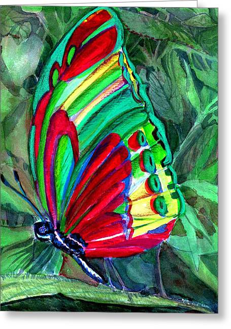 Jungle Butterfly Greeting Card by Mindy Newman