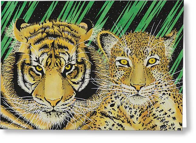 Jungle Cats Greeting Card