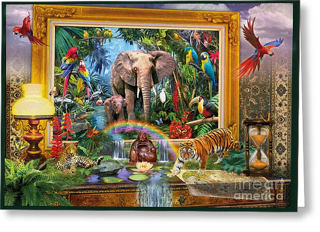 Jungle Coming Greeting Card by Jan Patrik Krasny