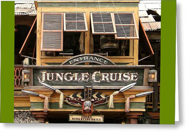 Jungle Cruise - Disneyland Greeting Card