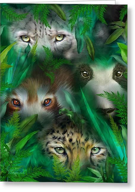 Jungle Eyes Asia Mixed Media By Carol Cavalaris