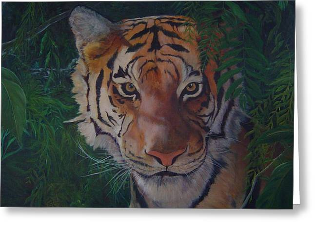 Jungle Eyes Greeting Card