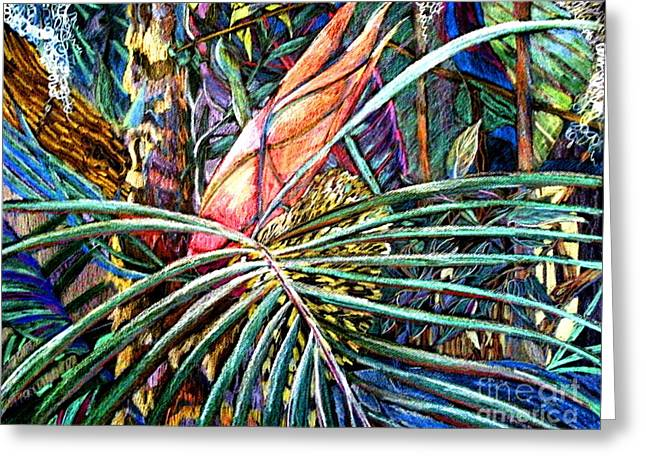 Jungle Fever Greeting Card by Mindy Newman