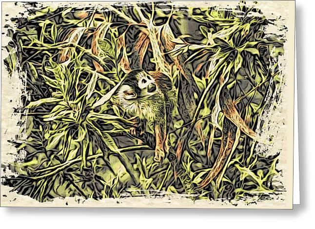 Jungle George Greeting Card