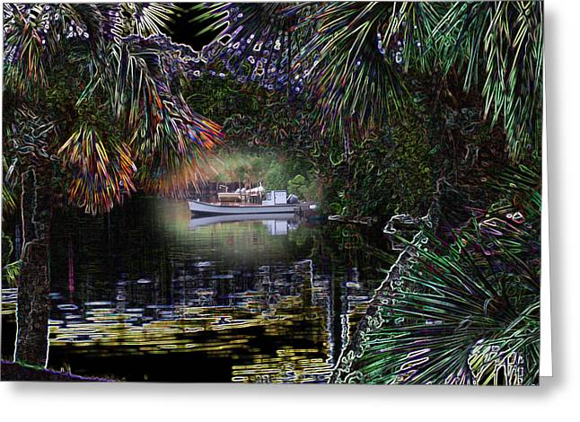 Jungle Glow Greeting Card by Rick McKinney