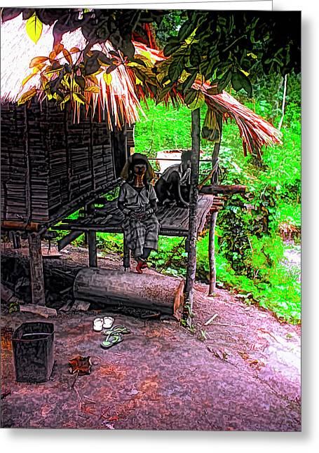 Jungle Life Greeting Card by Steve Harrington