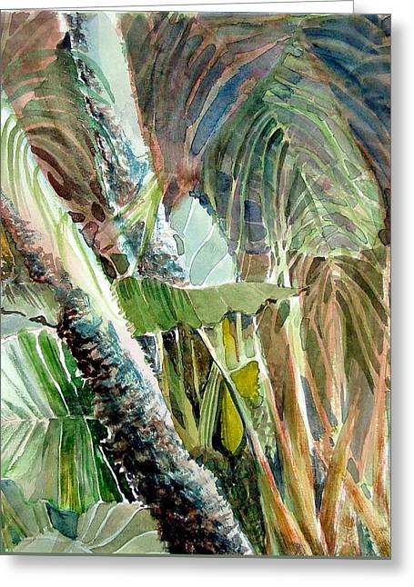 Jungle Light Greeting Card by Mindy Newman