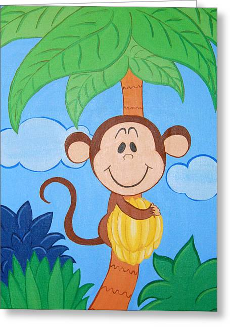Jungle Monkey Greeting Card