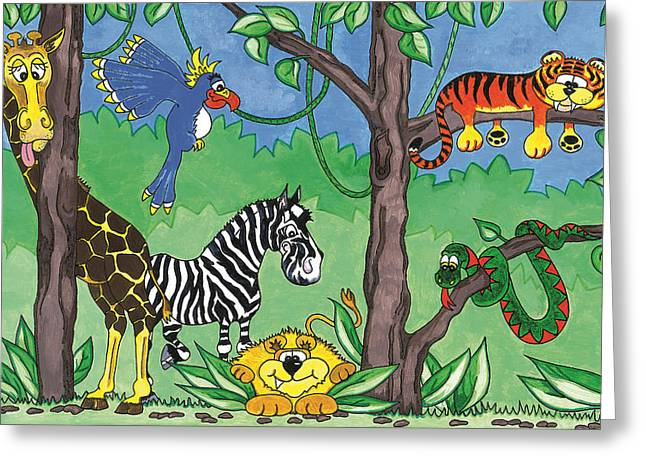 Jungle Party Greeting Card by Kirsty Breaks