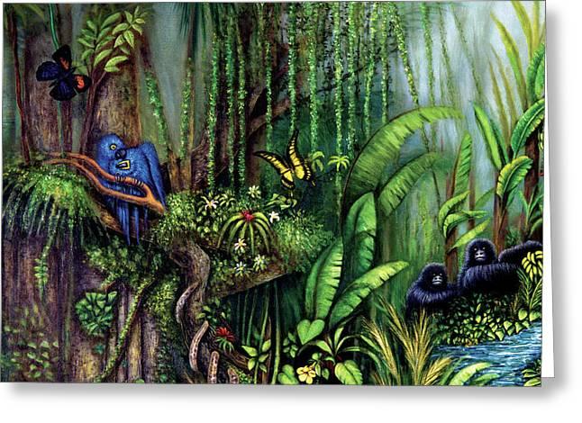 Jungle Talk Greeting Card