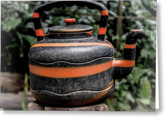 Jungle Tea Pot Greeting Card