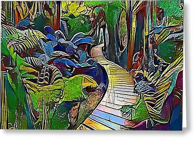 Jungle Way - My Www Vikinek-art.com Greeting Card by Viktor Lebeda