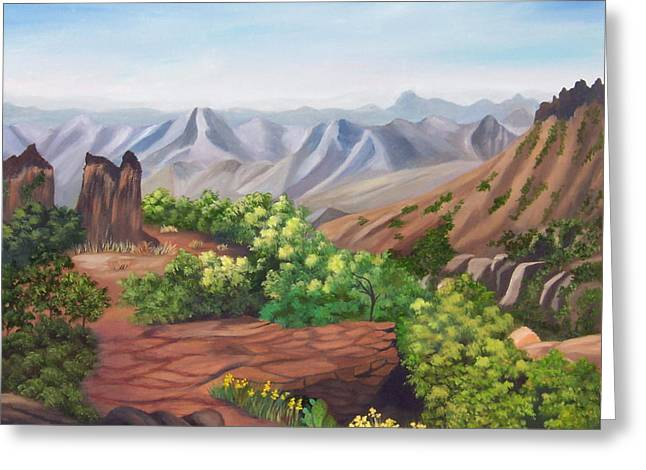 Juniper Canyon   Lost Mine Trail Greeting Card by Ruth  Housley