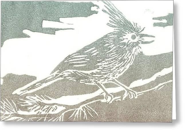 Juniper Titmouse Greeting Card
