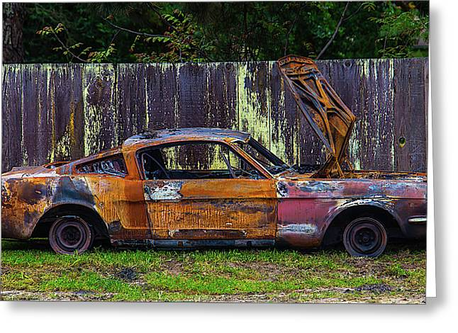 Junker By Fence Greeting Card by Garry Gay