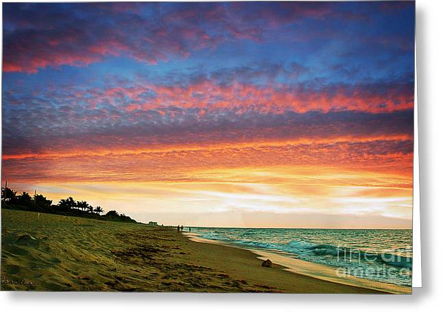 Juno Beach Florida Sunrise Seascape D7 Greeting Card by Ricardos Creations