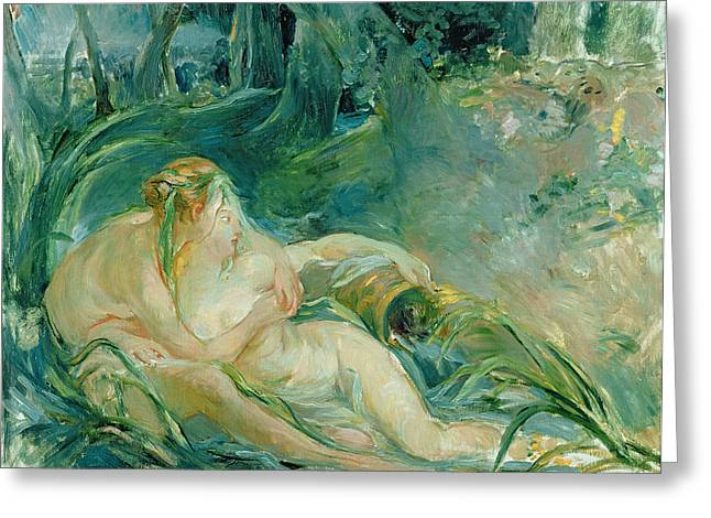 Jupiter And Callisto Greeting Card by Berthe Morisot