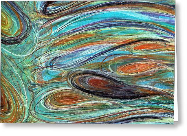 Jupiter Explored - An Abstract Interpretation Of The Giant Planet Greeting Card