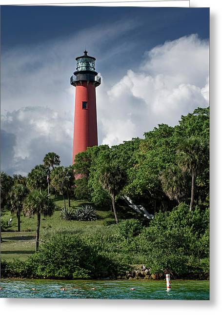 Jupiter Inlet Lighthouse Greeting Card by Laura Fasulo