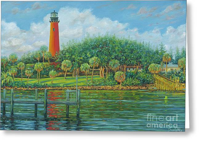 Jupiter Lighthouse Greeting Card by Danielle Perry