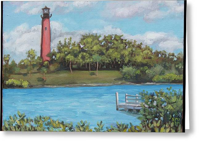 Edward Williams Greeting Cards - Jupiter Lighthouse Greeting Card by Edward Williams