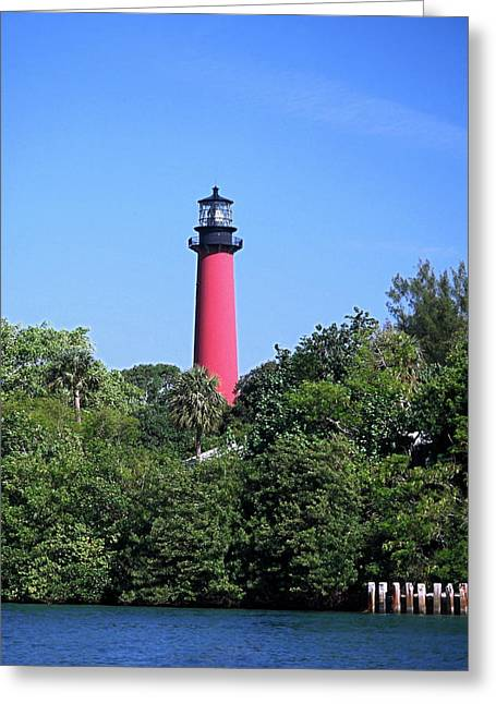Jupiter Lighthouse Greeting Card by Sally Weigand