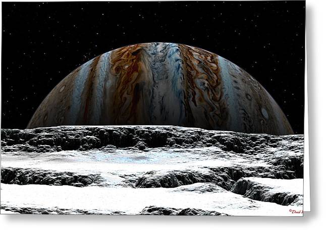 Jupiter Rise At Europa Greeting Card
