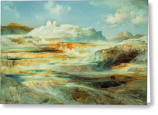 Jupiter Terrace  Yellowstone Greeting Card by Thomas Moran