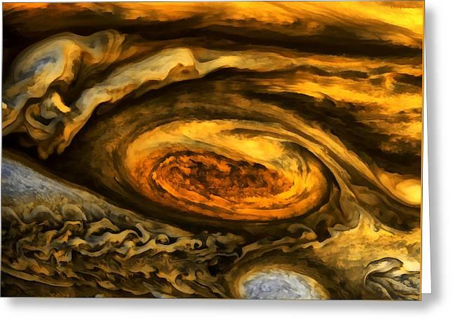 Jupiter's Storms. Greeting Card