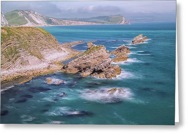 Jurassic Coast - England Greeting Card by Joana Kruse