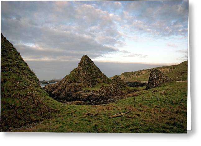Jurassic Coastline At Ballintoy Greeting Card
