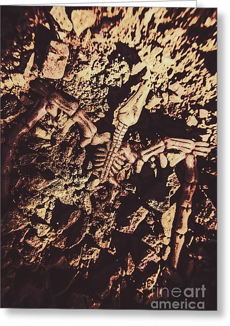 Jurassic Grave Greeting Card