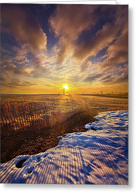 Just A Bit More To Go Greeting Card by Phil Koch