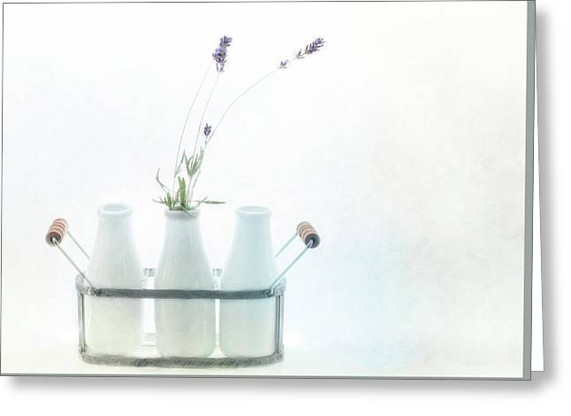 Greeting Card featuring the photograph Just A Little Lavender by Rebecca Cozart